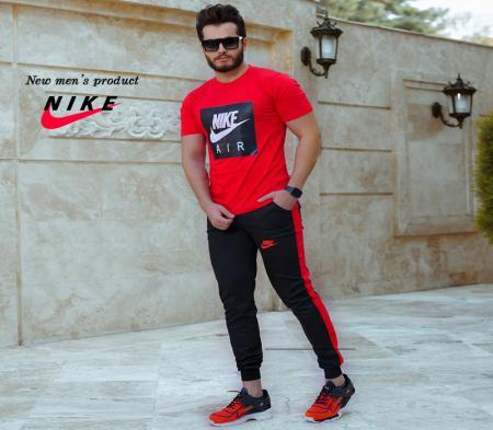 ست تیشرت وشلوار مردانه Nike مدل Zilan(قرمز)