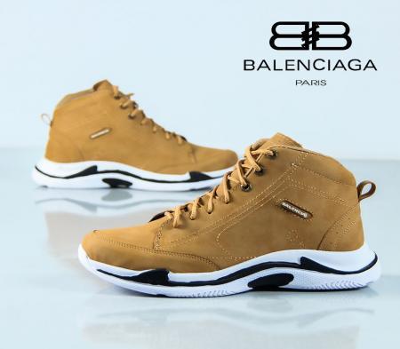 کفش ساقدار Balenciaga مدل Hoka (عسلی)
